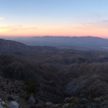 This is the view from the top of the Joshua Tree National Park. Salton Sea at mid-ground right.